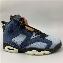 Men Air Jordan VI Washed Denim Basketball Sho...