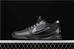 Men Nike Zoom Kobe 5 Blackout Basketball Shoe...