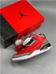 Men Air Jordan 3 Red Cement Basketball Shoe AAAAAA 376