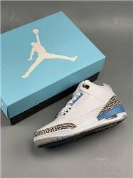 Men Air Jordan 3 Retro Valor Blue Basketball Shoe AAAAAA 377