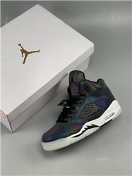 Men Air Jordan 5 WMNS Oil Grey Basketball Sho...
