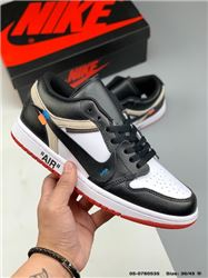 Men Off White x Air Jordan 1 Basketball Shoes AAA 538