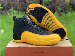 Men Air Jordan 12 University Gold