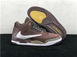 Men Travis Scott x Air Jordan 3 Basketball Sh...