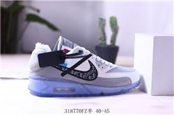 Men Off White x Nike Air Max 90 Running Shoes AAA 542