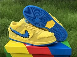 Men Grateful Dead x Nike SB Dunk Low Yellow B...