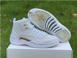 Men Air Jordan 12 OVO White