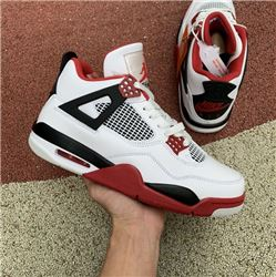 Men Air Jordan 4 Fire Red