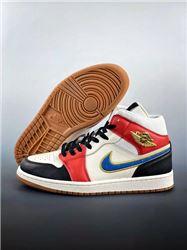 Men Air Jordan I Retro Mid Basketball Shoes AAAA 1045