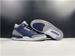 Men Air Jordan 3 Midnight Navy