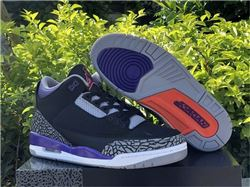 Men Air Jordan 3 Court Purple
