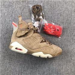 Men Travis Scott x Air Jordan 6 Basketball Shoes AAAAAA 483