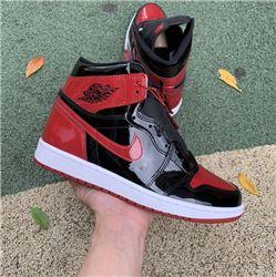 Men Air Jordan 1 High OG Bred Patent