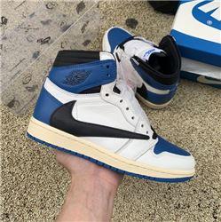 Men Fragment x TS x Air Jordan 1 High OG SP Military Blue
