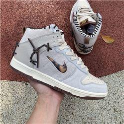 Men Nike SB Dunk High Bodega Ssil Grey