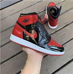 Women Air Jordan 1 High OG Bred Patent