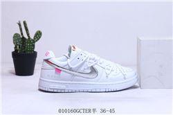 Women Off White x Nike SB Dunk Low Sneakers 444