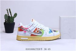 Women Off White x Nike SB Dunk Low Sneakers 445