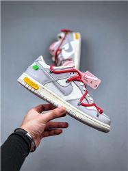 Women Off White x Nike SB Dunk Low Sneakers AAA 452