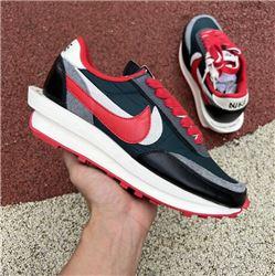 Men Undercover x Sacai x Nike LDV Waffle Daybreak Bright Citron Running Shoes AAAAA 547