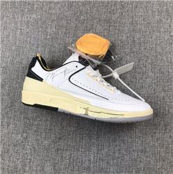 Men Off-White x Air Jordan 2 Low Basketball Shoes AAAAAA 221