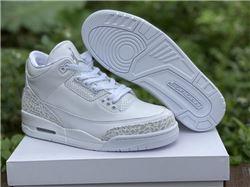 Men Air Jordan 3 Pure White