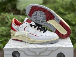 Men Off-White x Air Jordan 2 Low