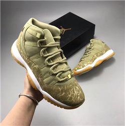 Men Air Jordan 11 Neutral Olive Basketball Shoes AAAAAA 461