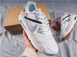 Men Nike Air Max 90 x Off White Running Shoes AAAA 493