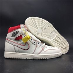 Men Air Jordan 1 Retro High OG SailRed Basketball Shoes AAAAA 741