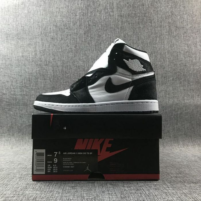 Women Air Jordan 1 Retro High OG Wmns Panda Sneakers AAAAA 458